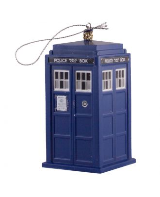 Doctor Who Tardis Plastic Ornament