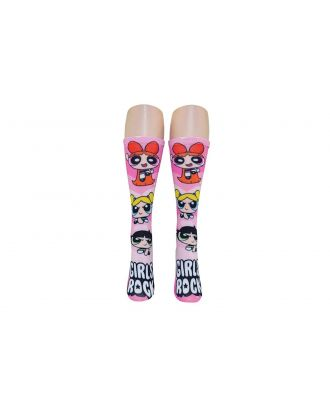 Powerpuff Girls-1 Pair 360 Print Crew Sock