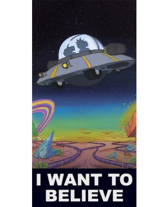 Rick and Morty I Want To Believe 12x24 Poster