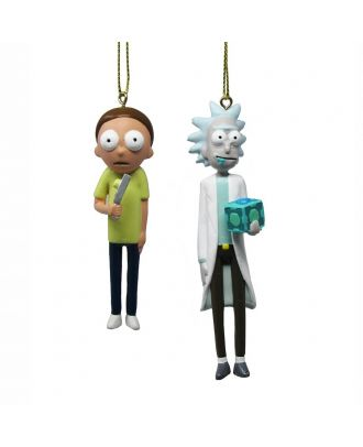 Rick and Morty Ornaments 2 Pack