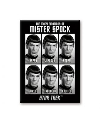 Star Trek The Many Faces Of Spock Magnet