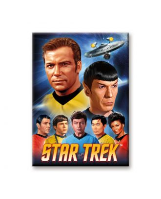 Star Trek Crew Art Magnet