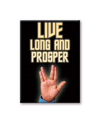 Star Trek Spock Live Long And Prosper Magnet