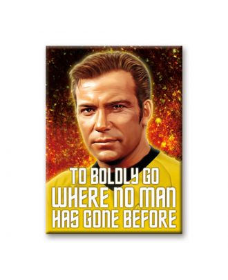 Star Trek Captain Kirk Boldly Go Art Magnet