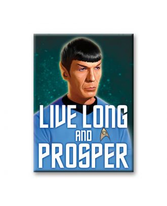 Star Trek Spock Live Long And Prosper Art Magnet