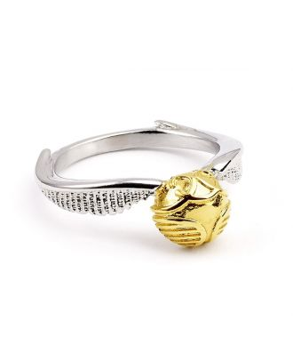 Harry Potter Stainless Golden Snitch Ring Medium