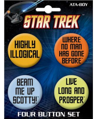 Star Trek Classic Quotes Button Four Pack