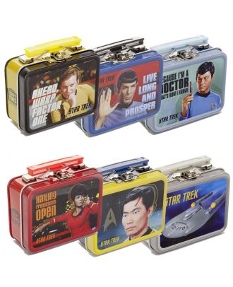 Star Trek Classic Teeny Tin Lunch Box Set of 6