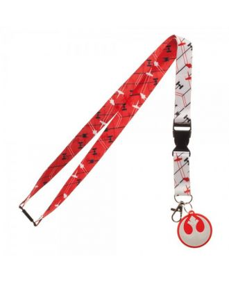 Star Wars The Last Jedi Rebel Logo Ships Lanyard