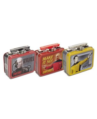 Star Trek Next Generation Teeny Tin Lunch Box Set of 6