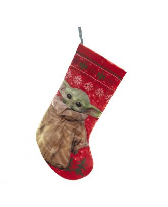 Star Wars Baby Yoda Red Holiday Stocking