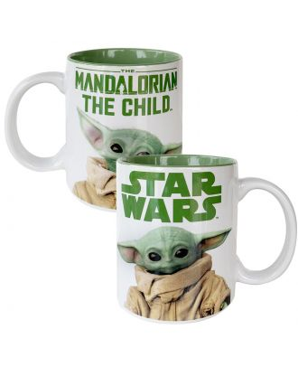 Star Wars The Mandalorian The Child White Mug Front and Back