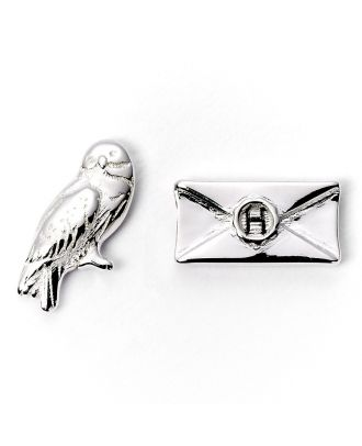 Harry Potter Silver Plated Hedwig & Letter Silver Plated Stud Earrings