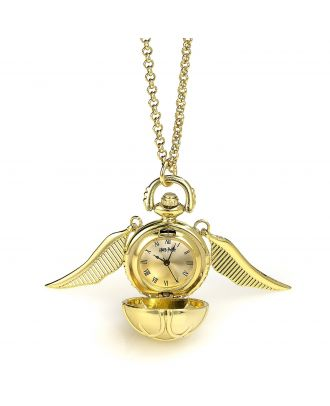 Harry Potter Gold Plated Golden Snitch Watch Necklace